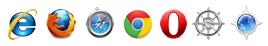 デザインクロスがホームページ制作時にチェックを行うブラウザーとOSの種類(アイコン)